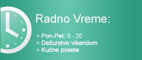 Radno Vreme - Stomatoloska ordinacija Bosnjak, Novi Sad, Bistrica, Novo Naselje